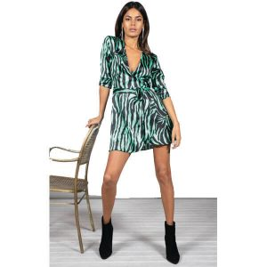 Dancing Leopard Marley Dress Green Zebra