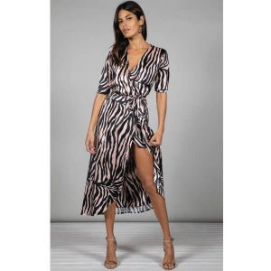 Dancing Leopard Yondal Dress Blush Zebra