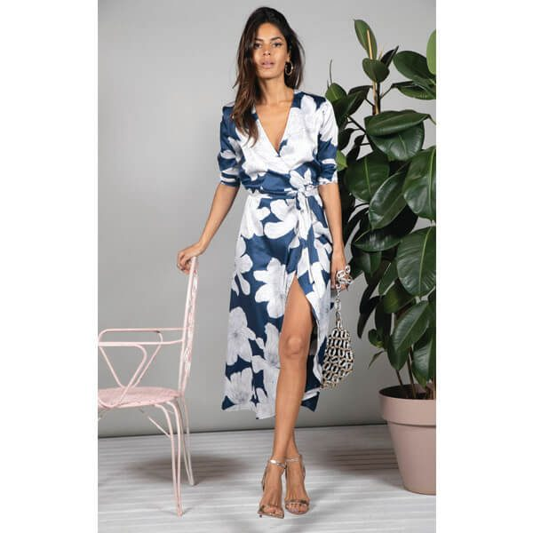 Dancing Leopard Yondal Dress Navy Bloom