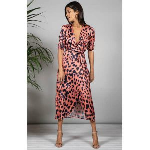 Dancing Leopard Yondal Dress Pleorange Leopard