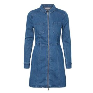 Denim-Zip-Dress