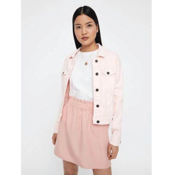 6f63100e2e Baby Pink Denim Jacket - Sequin Cinderella