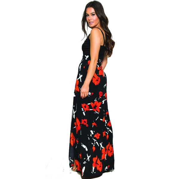 Black-And-Coral-Floral-2in1-Dress-3