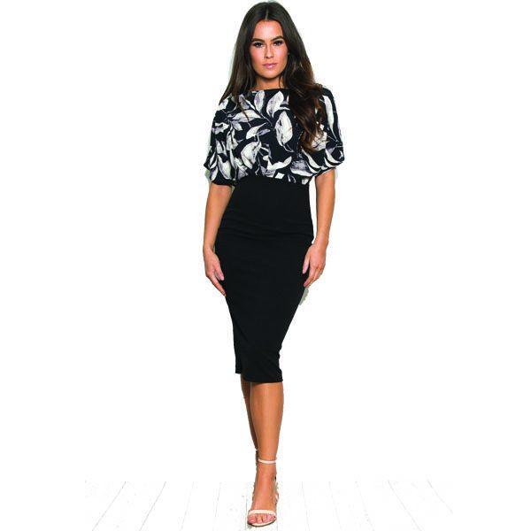 Black Floral 2in1 Dress
