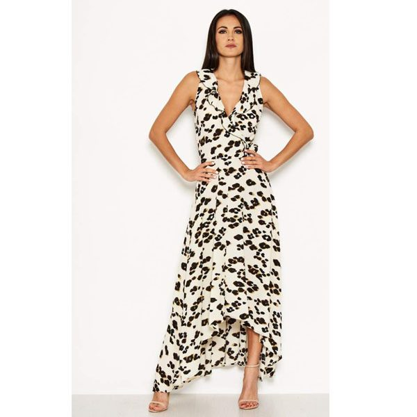 Cream Leopard Maxi Dress