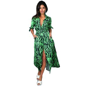 Dancing Leopard Dove Dress Green Zebra