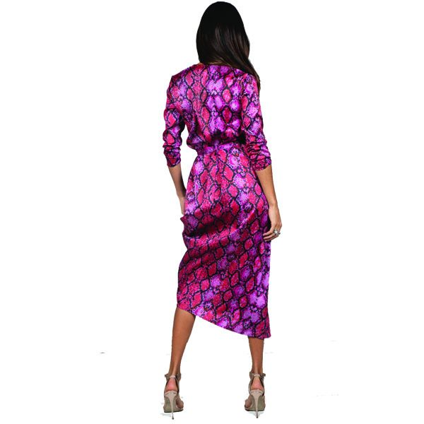 Dancing Leopard Yondal Dress Red Snake