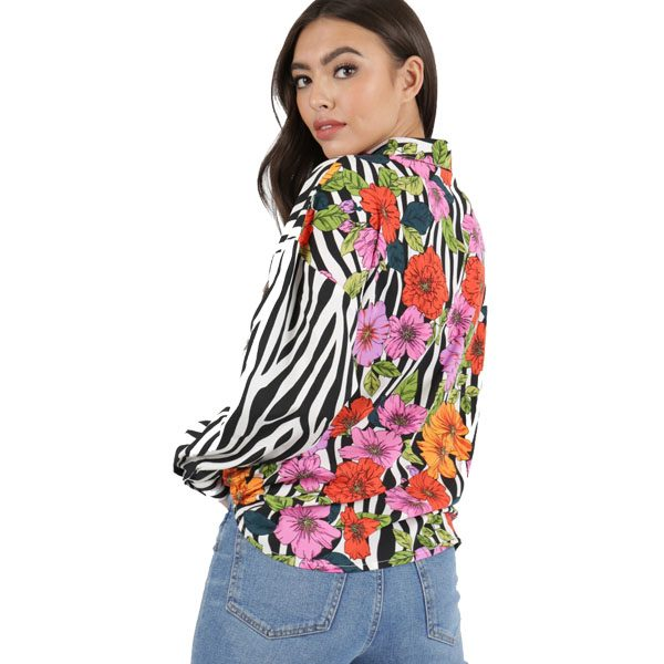 Floral And Zebra Shirt