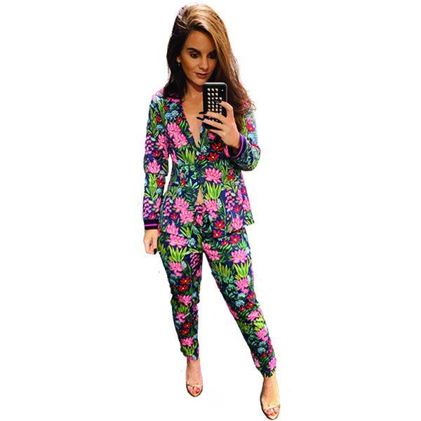 Floral Trouser Suit
