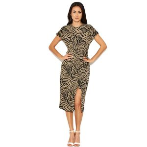 Khaki Zebra Mini/Midi Dress