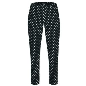 Robell Trousers Bella 09 Black and White Polka Dot