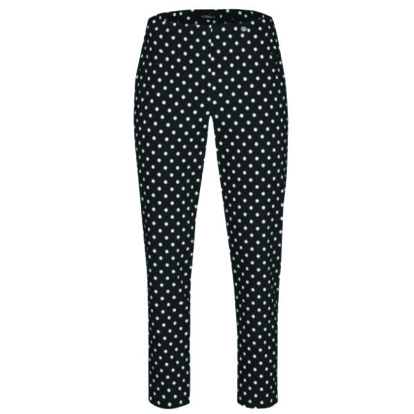 Robell Trousers Bella 09 Black and White Polka Dot