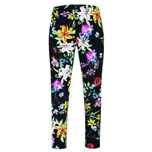 Robell Trousers Rose 09 Black Floral