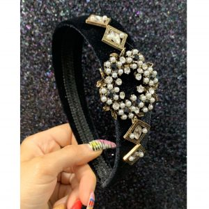 Black Velvet Jewel Hairband
