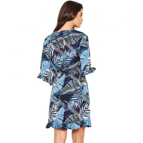 Blue Tropical Dress