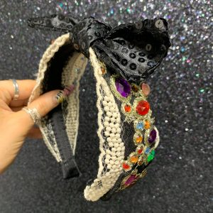Coloured Embellished Bow Hairband