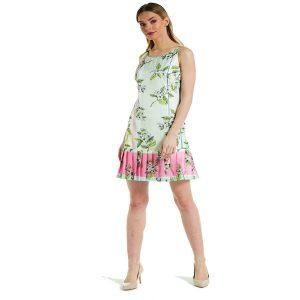 Floral Pastel Pleat Dress