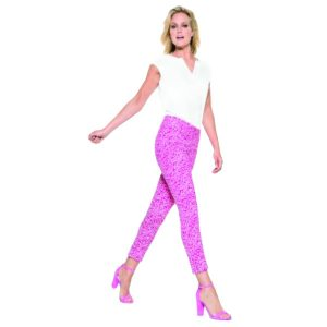 Robell Trousers Rose 09 Pink Leopard