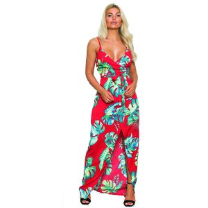 Red Tropical Maxi