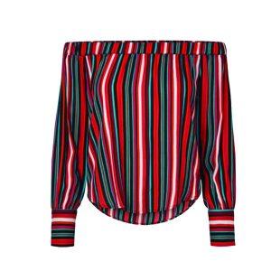 Striped Bardot Top