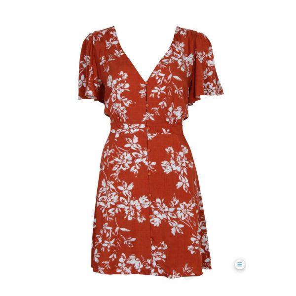 Terracotta Floral Dress