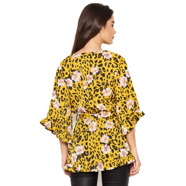 Yellow Leopard and Floral