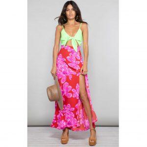 Dancing Leopard Malibu Dress Red Bloom Mix