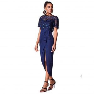 Virgos Lounge Navy Wendy Dress