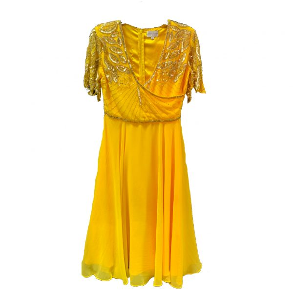 Virgos Lounge Ursula Dress in Yellow