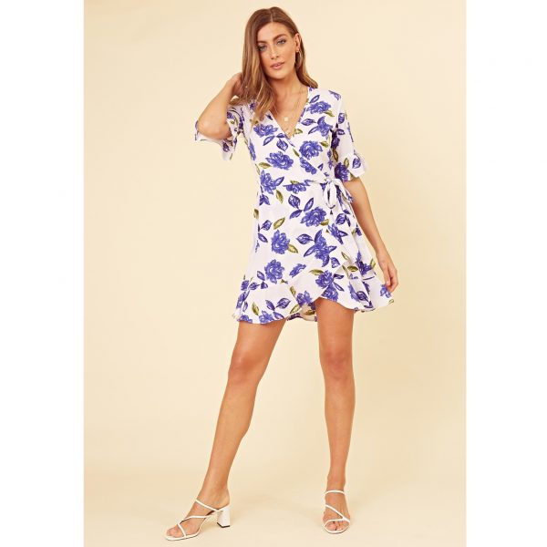 Blue and White Floral Sun Dress