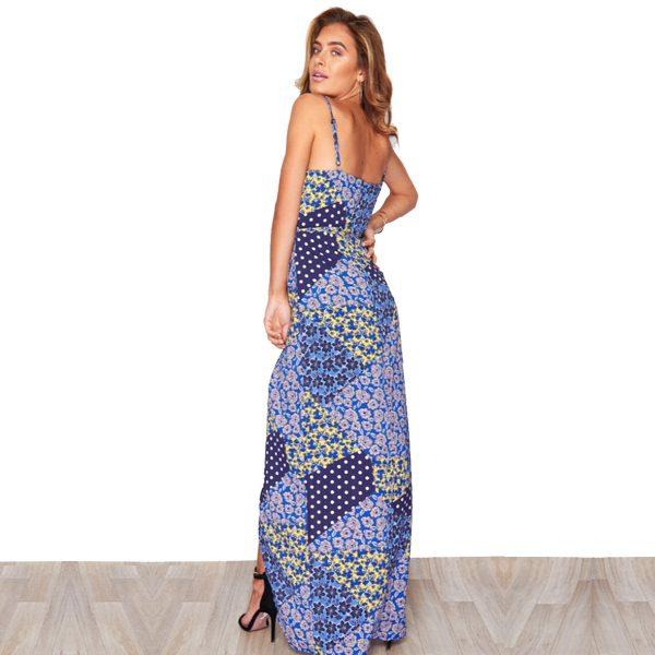 Blue Mix Floral Maxi