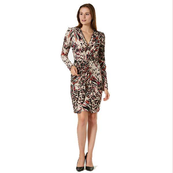 Multi Leopard Print Short Dress