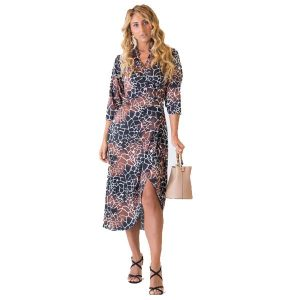Giraffe Print Wrap Dress
