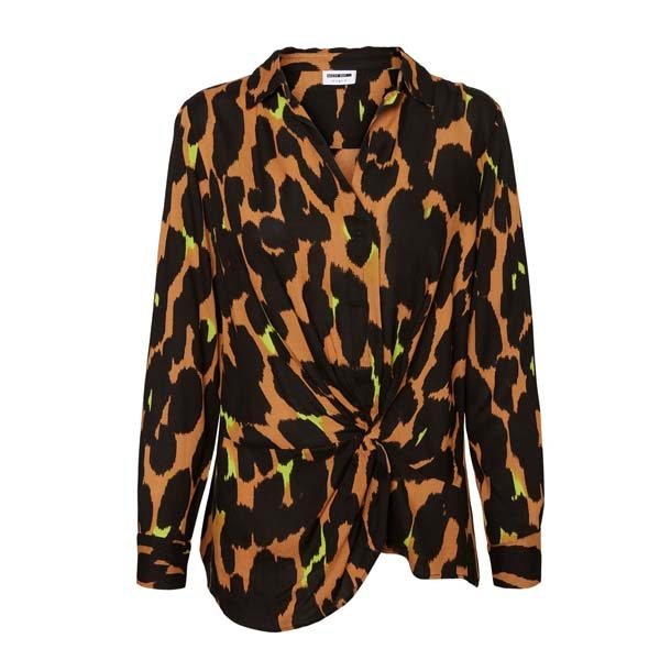 Leopard And Neon Blouse