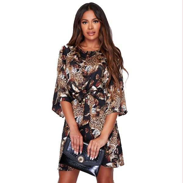 Leopard Mix Print Dress
