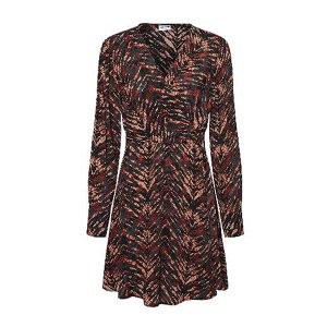 Tiger Print Belted Dress