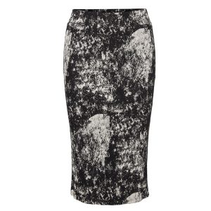 Black And White Paint Splash Skirt