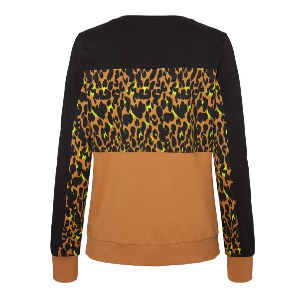 Black, Leopard & Tan Sweatshirt