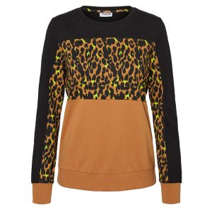 Black, Leopard & Tan Sweatshirt