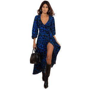 Dancing Leopard Jagger Dress Blue Leopard