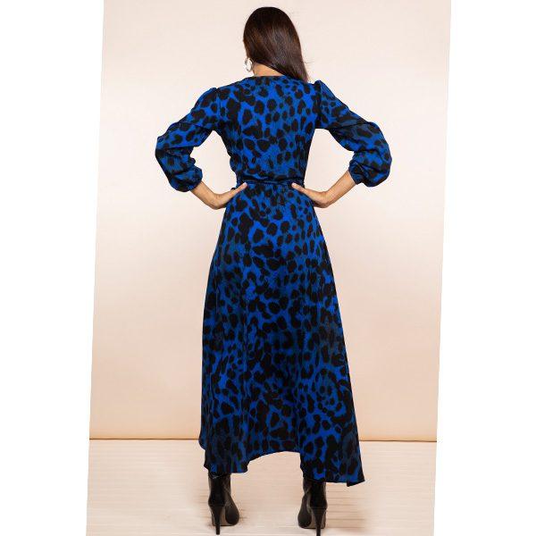 Dancing Leopard Jagger Dress in Blue Leopard