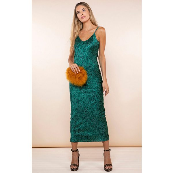 Dancing Leopard Paloma Dress Green Leopard