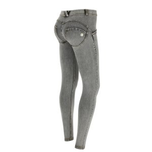 Freddy Light Grey Mid Rise Jeans 7/8