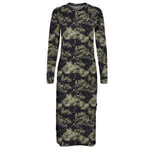 Khaki and Black Camouflage Dress