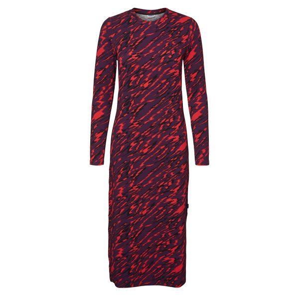 Purple and Red Camo Dress