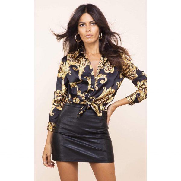 Dancing Leopard Nevada Shirt Black Baroque