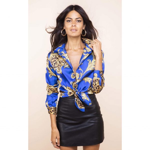 Dancing Leopard Nevada Shirt Blue Baroque