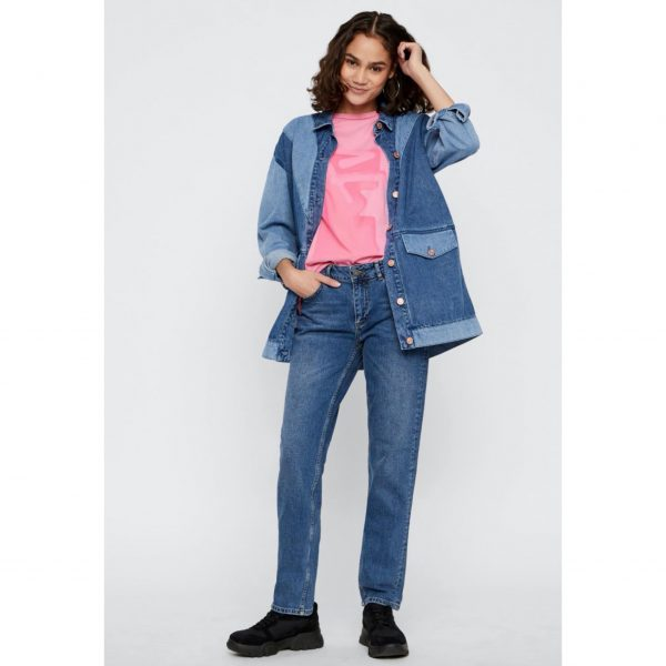 Denim Contrast Panel Jacket