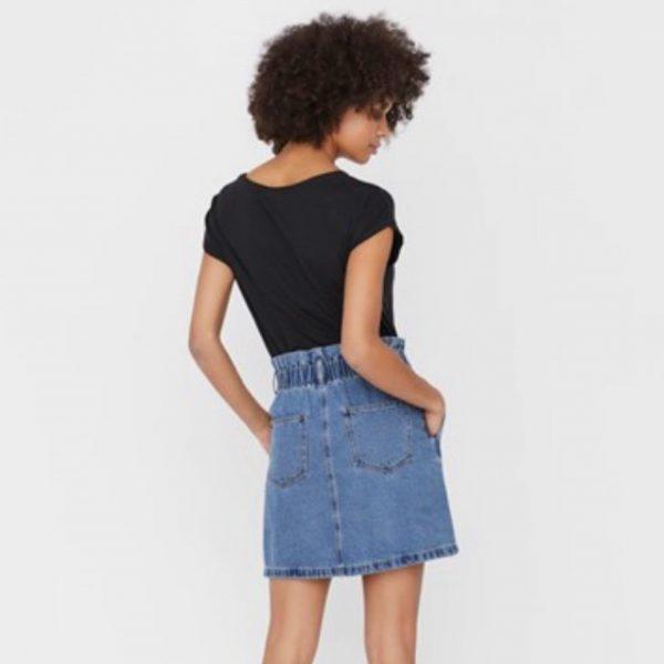Denim Paperbag Waist Mini Skirt