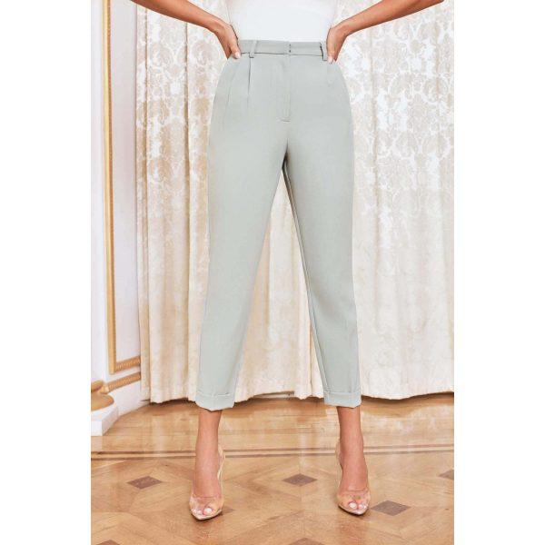 Lavish Alice Mint Green Cigarette Pants